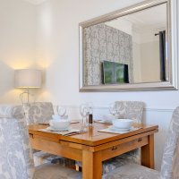 Broomhill Self Catering Apartment - Lounge Dining Table