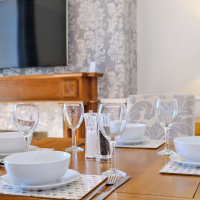 Broomhill Self Catering Apartment - Dining Table in Lounge